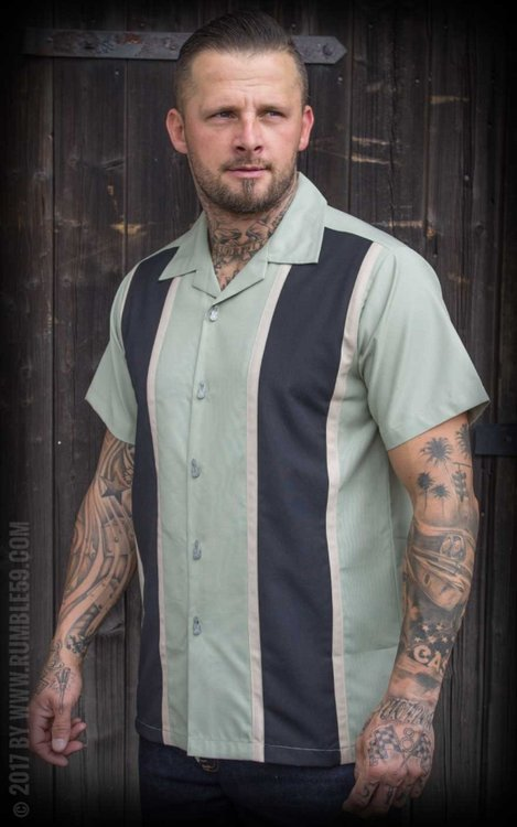 Classic Shirt Two Stripes - Dusty Mint
