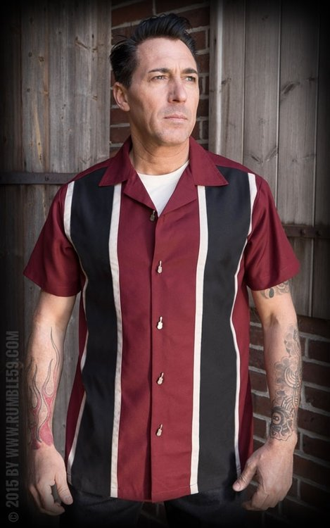 Classic Shirt Two Stripes - RedWine