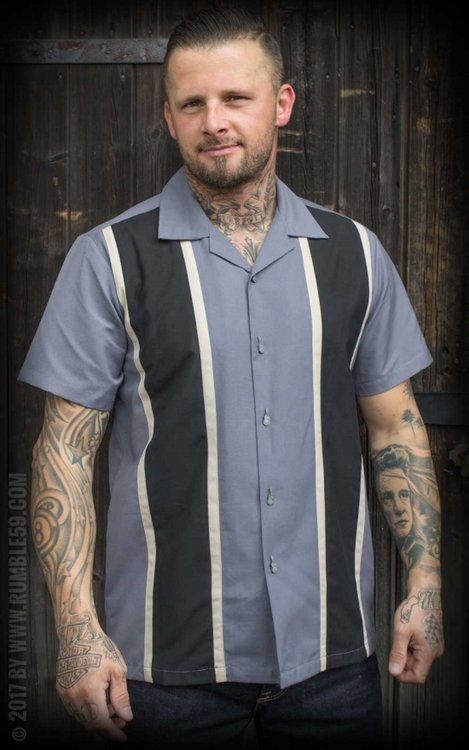 Classic Shirt Two Stripes - Smoked Grey