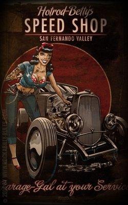 Poster - Hotrod Betty's Speed Shop